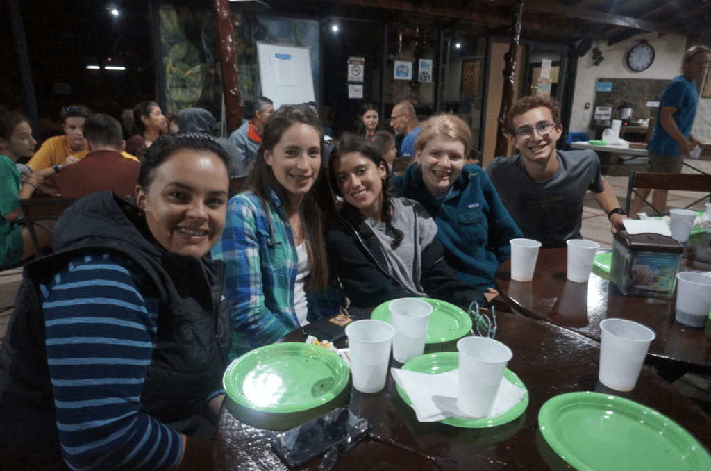 students at local eatery in Costa Rica